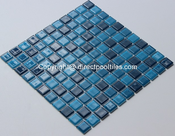 Blue Glass and Mosaic Tiles